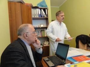 Dr. Zellweger mit Koordinator Bacdot Studie